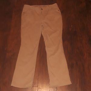 Faded Glory khaki boot-cut pants